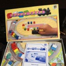 Juegos educativos: CURIOSO JUEGO DE MESA COLOR TREN DE DISET AÑO 1988 NUEVO EN SU CAJA . Lote 195588486