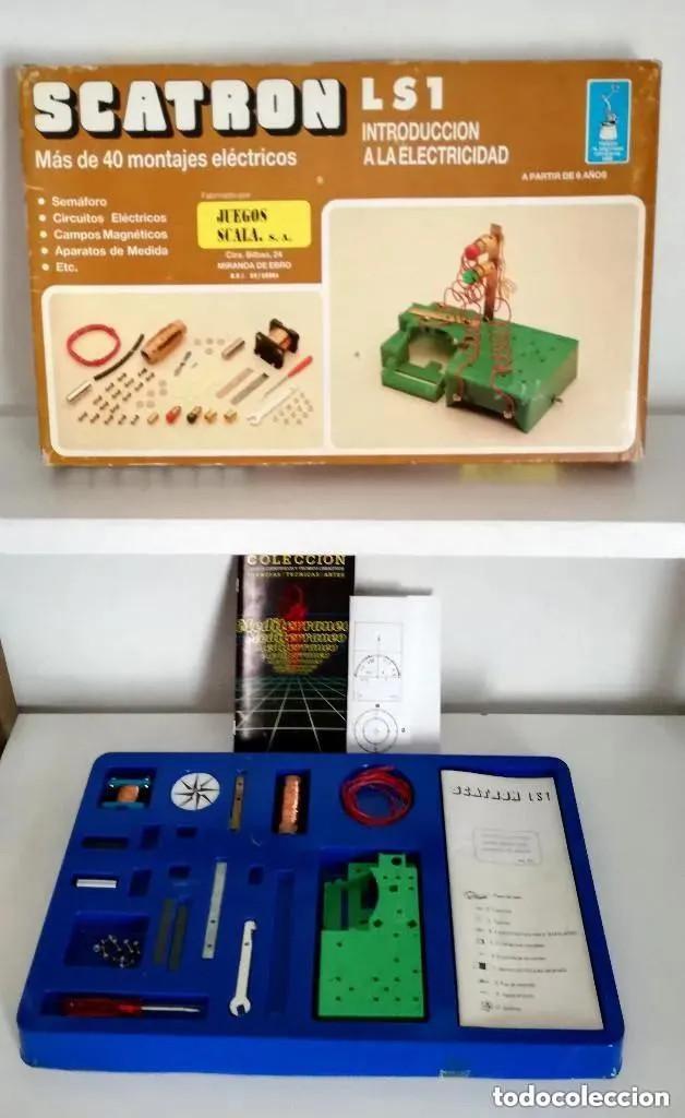 JUEGO SCATRON LS1 INTRODUCCIÓN ELECTRICIDAD TROFEO PRESTIGIO COMERCIAL 1988 JUEGOS SCALA REF. 222 (Juguetes - Juegos - Educativos)