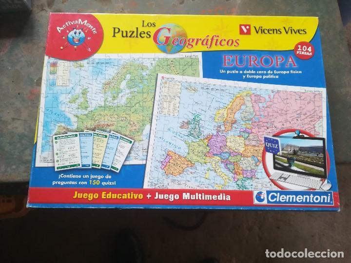 LOS PUZLES GEOGRÁFICOS. EUROPA. VICENS VIVESDOBLE CARA (Juguetes - Juegos - Educativos)