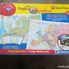 Juegos educativos: LOS PUZLES GEOGRÁFICOS. EUROPA. VICENS VIVESDOBLE CARA. Lote 197128966