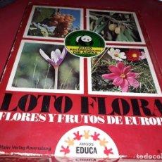 Juegos educativos: LOTO FLORA ( FLORES Y FRUTOS DE EUROPA) . EDUCA. FABRICADO EN ESPAÑA POR HERMANOS SALLENT 1970. Lote 197191860