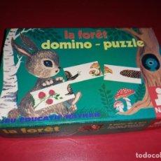 Juegos educativos: DOMINO-PUZZLE LA FÔRET. FERNAND NATHAN PARIS 1977. COMPLETO. Lote 197210745
