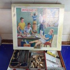Juegos educativos: ANTIGUA IMPRENTILLA EN SU CAJA ORIGINAL. Lote 199655756