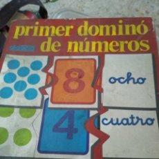 Juegos educativos: PRIMER DÒMINO DE NÚMEROS. Lote 201336415