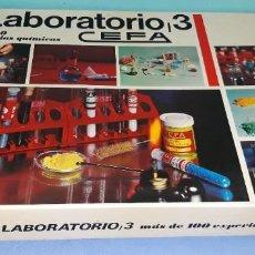 Juegos educativos: ANTIGUA CAJA GRANDE LABORATORIO 3 DE CEFA QUIMICEFA ORIGINAL. Lote 206143042