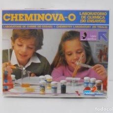 Juegos educativos: JUEGO CHEMINOVA-0, LABORATORIO DE QUIMICA, 90 ENSAYOS, MEDITERRANEO, AÑOS 80. Lote 206811990