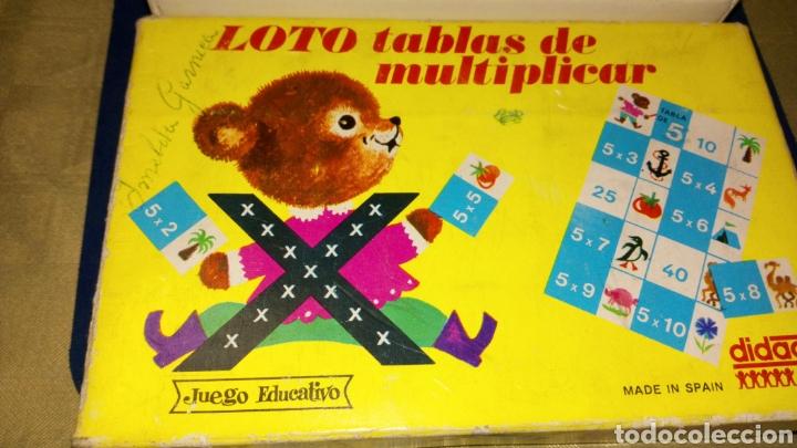 Juegos educativos: Loto tablas de multiplicar juego educativo didacta completo made spain ver fotos estado caja pintada - Foto 2 - 207038608