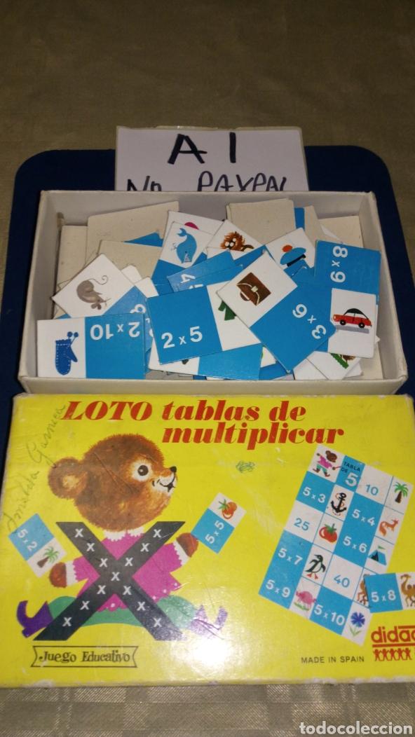 LOTO TABLAS DE MULTIPLICAR JUEGO EDUCATIVO DIDACTA COMPLETO MADE SPAIN VER FOTOS ESTADO CAJA PINTADA (Juguetes - Juegos - Educativos)