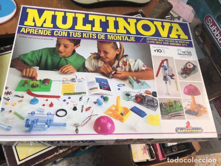 JUEGO JUEGO APRENDE KITS MONTAJE MULTINOVA Y FISINOVA DE LA CASA MEDITERRANEO AÑOS 90 (Juguetes - Juegos - Educativos)