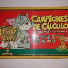 Juegos educativos: ANTIGUO JUEGO DE MESA CAMPEONES DE CALCULO, LOTERIA MULTIPLICADORA. TOM Y JERRY 1959. Lote 208655765
