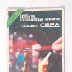 Juegos educativos: LIBRO, INSTRUCCIONES MANUAL QUIMICEFA.. Lote 209265706