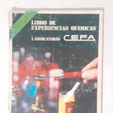 Juegos educativos: LIBRO, INSTRUCCIONES MANUAL QUIMICEFA.. Lote 209266141