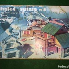 Juegos educativos: JUEGO DE PIEZAS DE MADERA CHALET SUISSE JEUJURA Nº 8. Lote 209959486