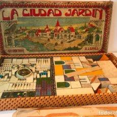 Juegos educativos: ANTIGUO JUEGO DE CONSTRUCCION DE MADERA - LA CIUDAD JARDIN. Lote 210554795