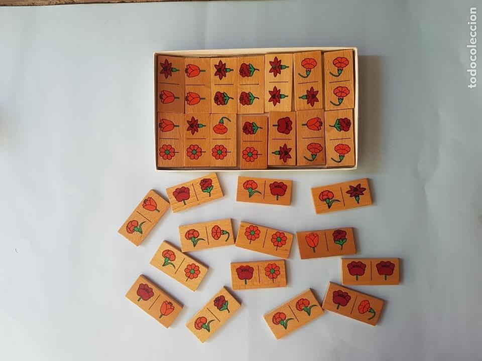 Juegos educativos: DOMINÓ EN MADERA HECHO A MANO- JUEGO DE LAS FLORES - GOULA - AÑOS 70 - Foto 2 - 212107801