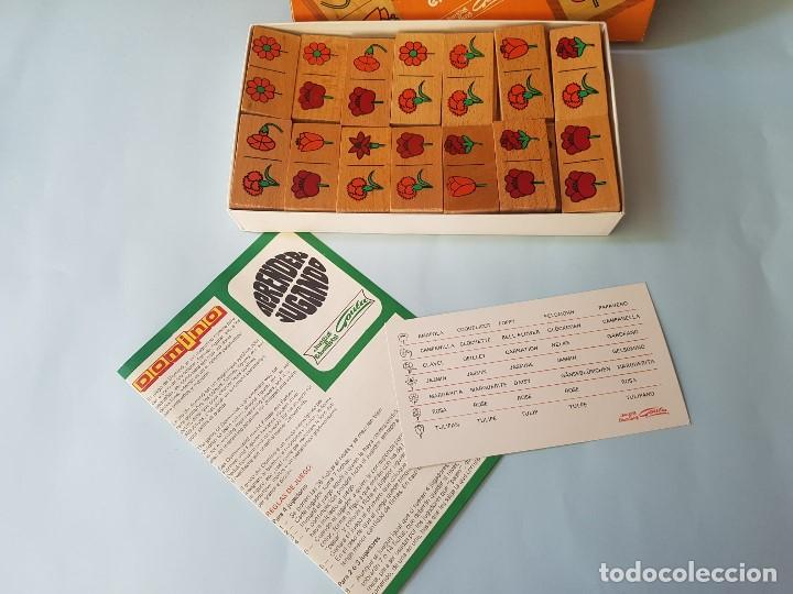 Juegos educativos: DOMINÓ EN MADERA HECHO A MANO- JUEGO DE LAS FLORES - GOULA - AÑOS 70 - Foto 3 - 212107801