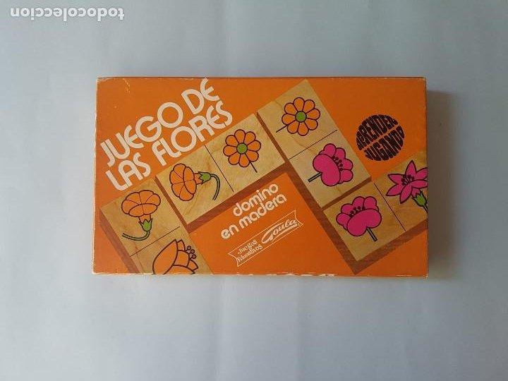 Juegos educativos: DOMINÓ EN MADERA HECHO A MANO- JUEGO DE LAS FLORES - GOULA - AÑOS 70 - Foto 4 - 212107801
