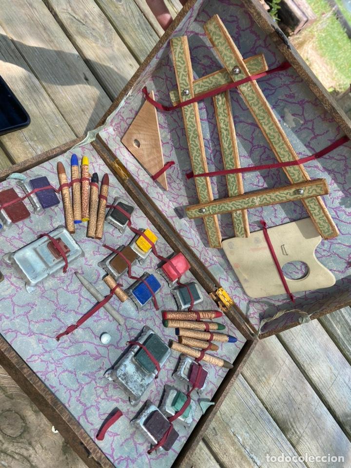 Juegos educativos: Antiguo juego de pinturas burgeois Aine .Circa 1940 - Foto 2 - 212267041