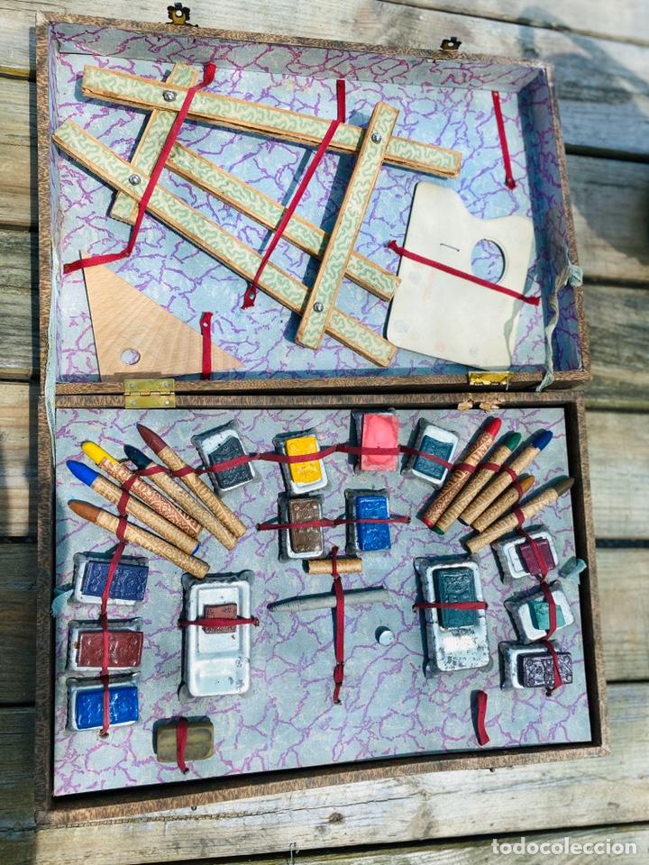 Juegos educativos: Antiguo juego de pinturas burgeois Aine .Circa 1940 - Foto 3 - 212267041