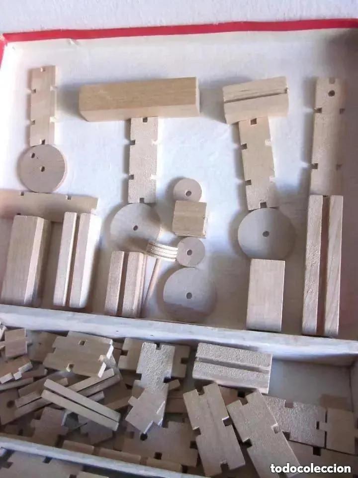 Juegos educativos: Antiguo juego madera años 60 Construcción Set fabricado People Republic of China WB192 Caja Nº 4 - Foto 3 - 212385137