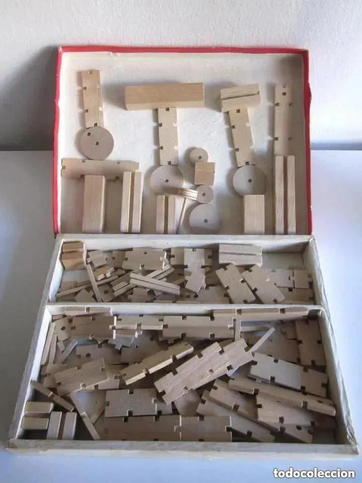 Juegos educativos: Antiguo juego madera años 60 Construcción Set fabricado People Republic of China WB192 Caja Nº 4 - Foto 7 - 212385137
