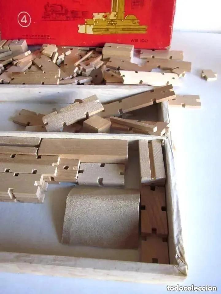 Juegos educativos: Antiguo juego madera años 60 Construcción Set fabricado People Republic of China WB192 Caja Nº 4 - Foto 8 - 212385137