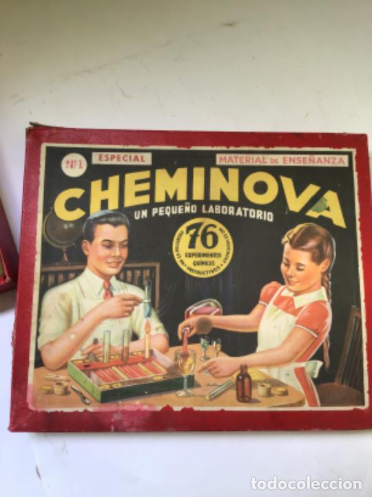Juegos educativos: ANTIGUO JUEGO CHEMINOVA Nº1 , CON LOS INGREDIENTES Y OBJETOS EN CRISTAL , ORIGINAL AÑOS 40- 50 - Foto 2 - 217744533