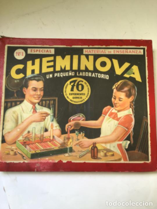 Juegos educativos: ANTIGUO JUEGO CHEMINOVA Nº1 , CON LOS INGREDIENTES Y OBJETOS EN CRISTAL , ORIGINAL AÑOS 40- 50 - Foto 8 - 217744533