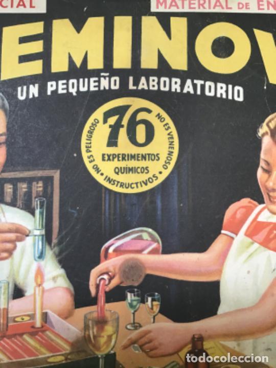 Juegos educativos: ANTIGUO JUEGO CHEMINOVA Nº1 , CON LOS INGREDIENTES Y OBJETOS EN CRISTAL , ORIGINAL AÑOS 40- 50 - Foto 11 - 217744533