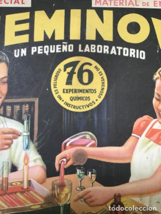 Juegos educativos: ANTIGUO JUEGO CHEMINOVA Nº1 , CON LOS INGREDIENTES Y OBJETOS EN CRISTAL , ORIGINAL AÑOS 40- 50 - Foto 12 - 217744533