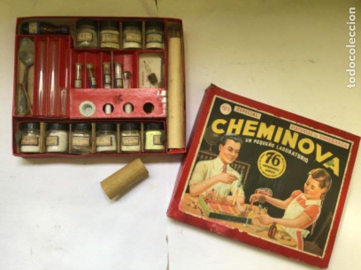 Juegos educativos: ANTIGUO JUEGO CHEMINOVA Nº1 , CON LOS INGREDIENTES Y OBJETOS EN CRISTAL , ORIGINAL AÑOS 40- 50 - Foto 26 - 217744533