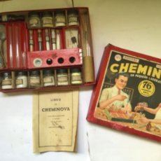 Juegos educativos: ANTIGUO JUEGO CHEMINOVA Nº1 , CON LOS INGREDIENTES Y OBJETOS EN CRISTAL , ORIGINAL AÑOS 40- 50. Lote 217744533