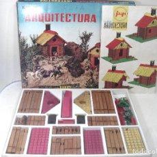 Juegos educativos: ANTIGUO JUEGO DE ARQUITECTURA JUP AÑOS 60- REF: 209 -NUEVA CONSTRUCCION JUGUETE MADERA. Lote 217767883