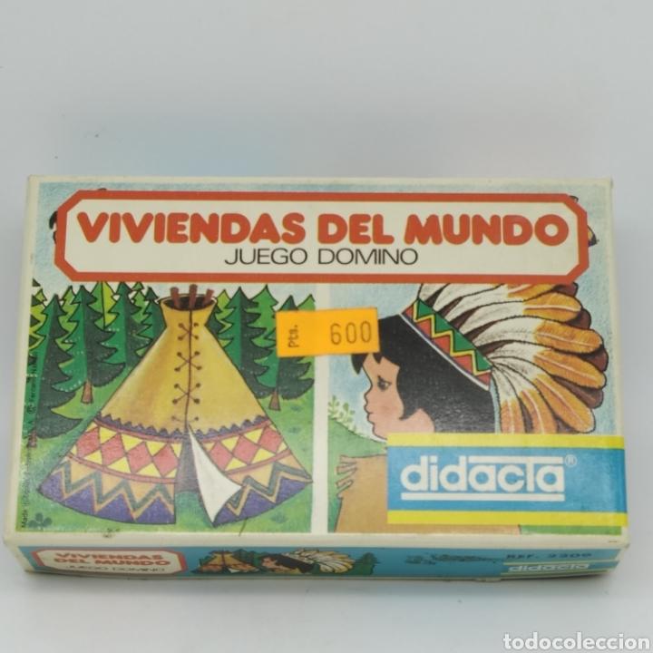 Juegos educativos: Viviendas del mundo, juego Dominó de DIDACTA referencia 2209, años 70, nuevo a estrenar - Foto 7 - 218548867