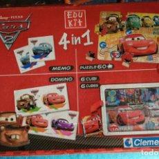 Juegos educativos: CARS 2, 4 EN 1 (CLEMENTONI). Lote 218862990