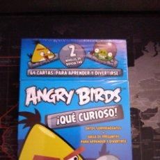 Juegos educativos: ANGRY BIRDS. ¡QUE CURIOSO! JUEGO DE MESA CARTAS INFANTIL NUEVO PRECINTADO. Lote 146267690