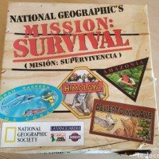 Juegos educativos: JUEGO ACCIÓN Y AVENTURA 1995. MISIÓN : SUPERVIVENCIA. NATIONAL GEOGRAPHIC'S.. Lote 221338527