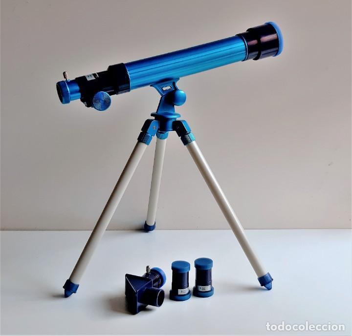 TELESCOPIO ASTRONOMICO CON LENTES DE 20, 30 Y 40 - 39.CM ALTO X 36 DE LARGO - DE PASTA MUY LIBIANO (Juguetes - Juegos - Educativos)