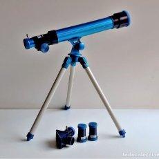 Juegos educativos: TELESCOPIO ASTRONOMICO CON LENTES DE 20, 30 Y 40 - 39.CM ALTO X 36 DE LARGO - DE PASTA MUY LIBIANO. Lote 221620608