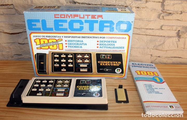 ANTIGUO COMPUTER ELECTRO 1001, DE JUMBO Y DISET + LIBROS 1. EN SU CAJA ORIGINAL Y FUNCIONANDO (Juguetes - Juegos - Educativos)