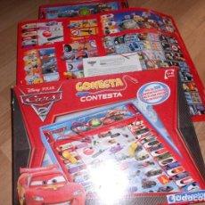 Juegos educativos: CONECTA CONTESTA - CARS 2 - DISNEY . PIXAR - MAS DE 350 PREGUNTAS ILUSTRADAS - COMPLETO - CLEMENTONI. Lote 222890008