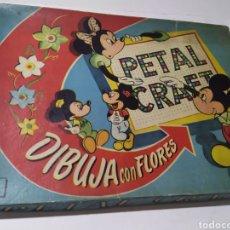 Juegos educativos: JUEGO DE WALT DISNEY DIBUJA CON FLORES.PETAL CRAFT. Lote 226394527