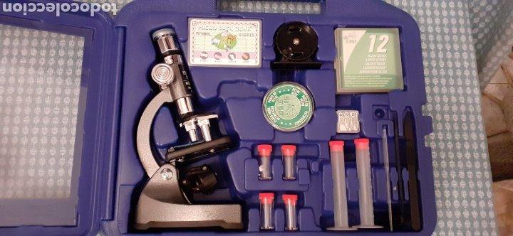 Juegos educativos: Microscopio Edu science, prácticamente nuevo - Foto 2 - 228443945