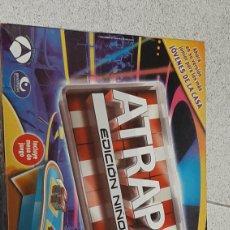 Juegos educativos: JUEUO DE MESA ATRAPA EDICION NIÑOS PRODUCTO OFICIAL ANTENA TRES USADO COMPLETO. Lote 229297510