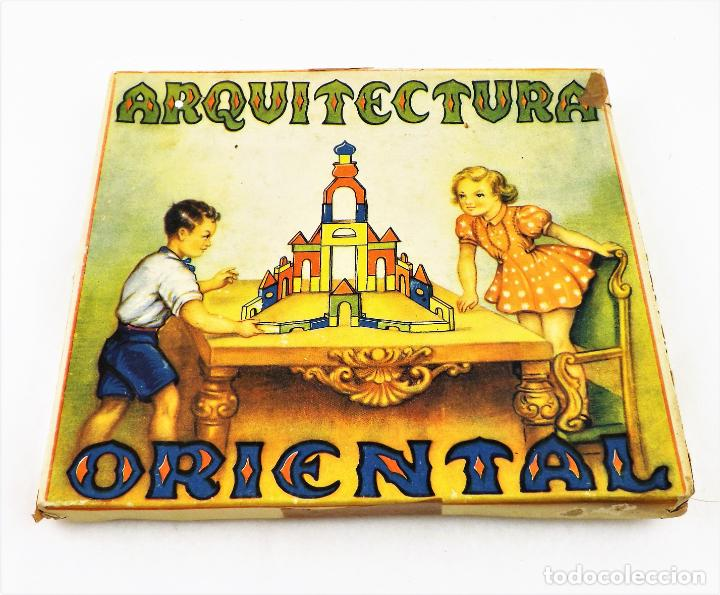 JUEGO DE CONSTRUCCIÓN ARQUITECTURA ORIENTAL AÑOS 30 (Juguetes - Juegos - Educativos)
