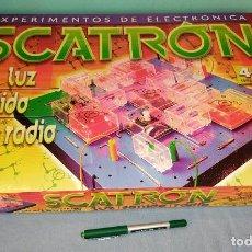 Juegos educativos: SCATRON LUZ SONIDO RADIO EXPERIMENTOS DE ELECTRICIDAD DE DINOVA. Lote 239451040