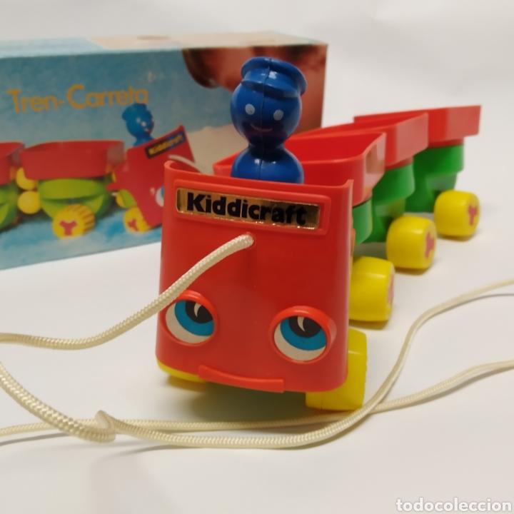 Juegos educativos: Tren Carreta KIDDICRAFT, fabricado en España por Juguetes Racionales SA, Madrid. Años 70- a estrenar - Foto 2 - 241138705