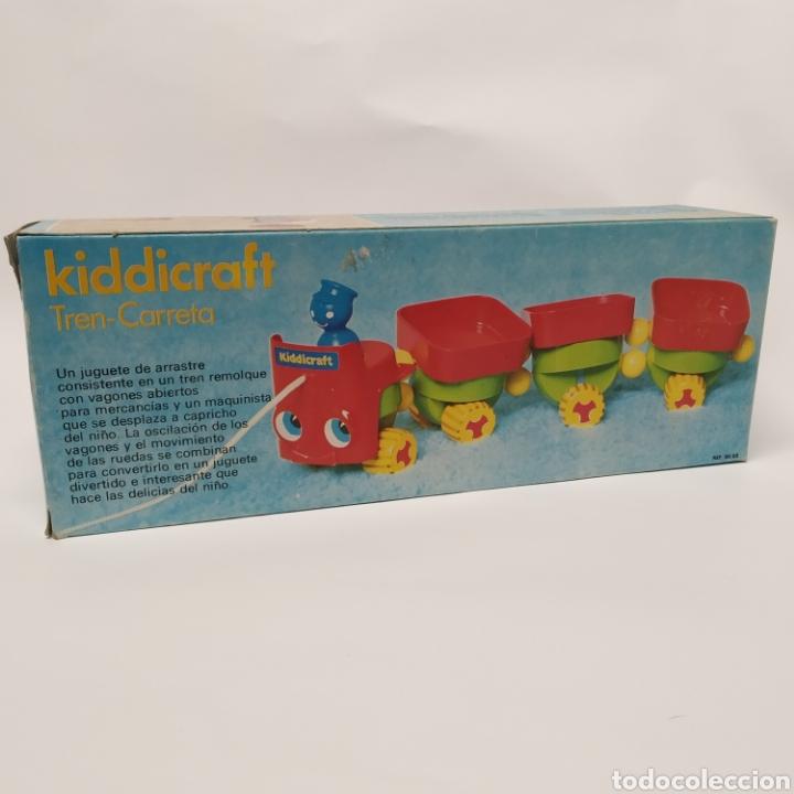 Juegos educativos: Tren Carreta KIDDICRAFT, fabricado en España por Juguetes Racionales SA, Madrid. Años 70- a estrenar - Foto 3 - 241138705