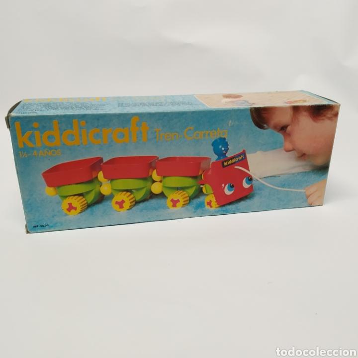 Juegos educativos: Tren Carreta KIDDICRAFT, fabricado en España por Juguetes Racionales SA, Madrid. Años 70- a estrenar - Foto 5 - 241138705