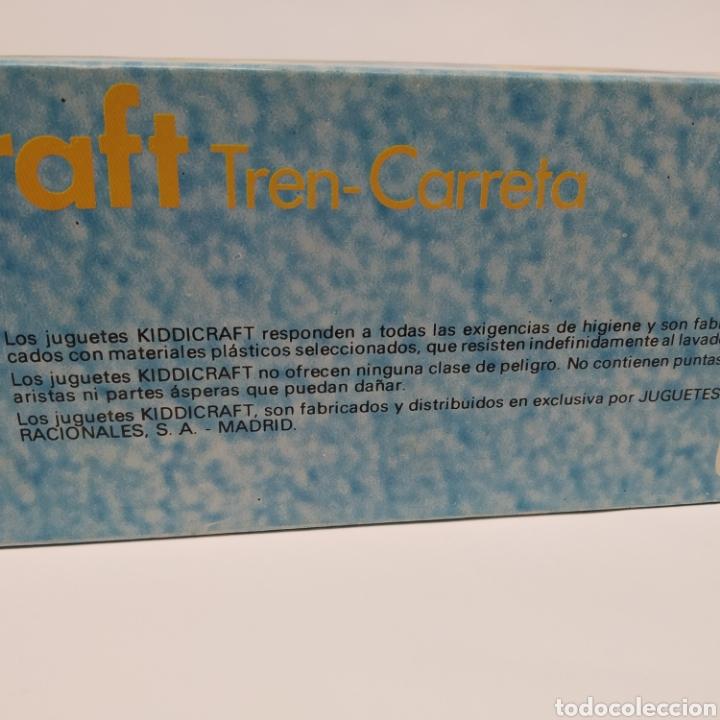 Juegos educativos: Tren Carreta KIDDICRAFT, fabricado en España por Juguetes Racionales SA, Madrid. Años 70- a estrenar - Foto 8 - 241138705